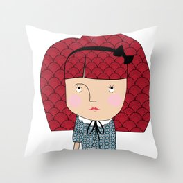 Mss. bullheaded Throw Pillow