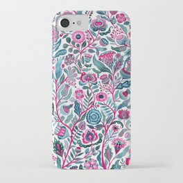Endlessly growing - pink and turquoise iPhone Case