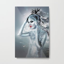 SHE ALIEN Metal Print