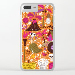 Tiki Freaks do the Hulaween Clear iPhone Case