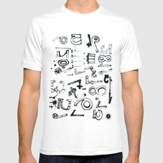 TYPO CHAOS White SMALL Mens Fitted Tee
