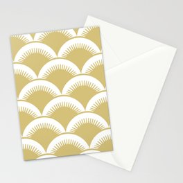 Japanese Fish Scales Gold Stationery Cards