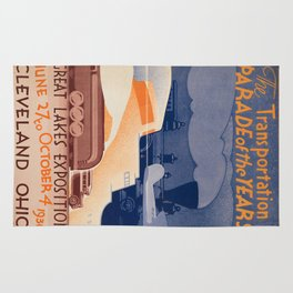 Vintage poster - Great Lakes Exposition Rug