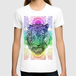 mandala tiger color T-shirt