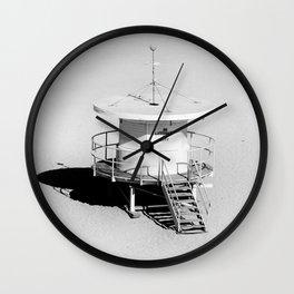 SouthBeach Stand 1 bw Wall Clock