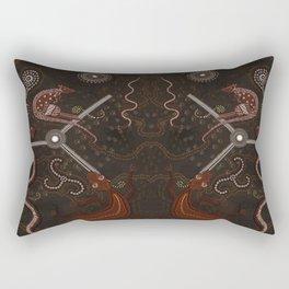 Three Billabongs - Australian Aboriginal Art Theme Rectangular Pillow