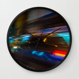 Bangkok Traffic Blur Wall Clock