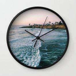 Cliffside Blue Ocean Wave Views  - Wall Clock