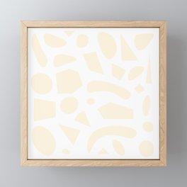 The Shape of Things - Peach Framed Mini Art Print