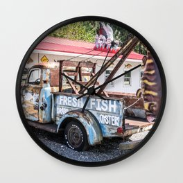 Fresh Fish Truck Wall Clock
