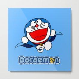 SUper Doraemon Metal Print