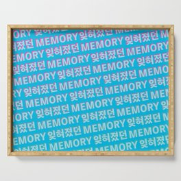 The Forgotten Memory - Typography Serving Tray
