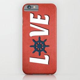 Love nautical design iPhone Case