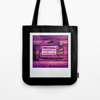 sarcasm Tote Bags featuring Sarcasm by Li9z