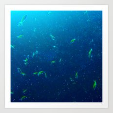 Tiny Yellow Fish Art Print