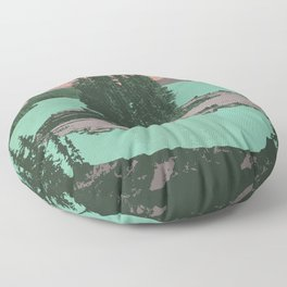 Jasper National Park Poster Floor Pillow