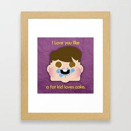 Fattycake love Framed Art Print