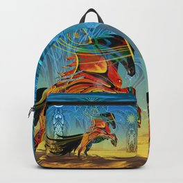 The Wind of Time (Red Horse) Backpack