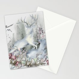 The Deer in My Forest Stationery Cards