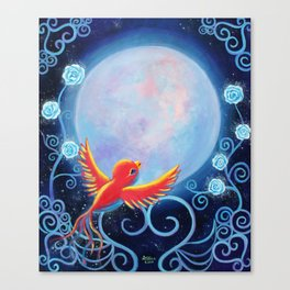Singing to The Moon Canvas Print