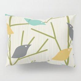 Mid Century Modern Birdsong Pillow Sham