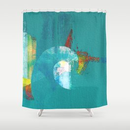 Tournament (knight turquoise) Shower Curtain
