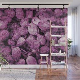 Pattern purple Lotos Flowes Wall Mural