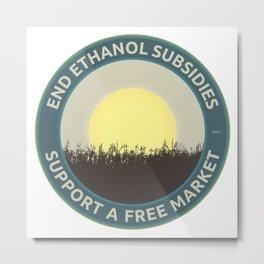 End Ethanol Subsidies Metal Print