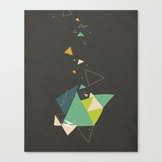 Exploding Triangles//Six Canvas Print