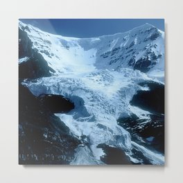 Mountain Glacier In The Shadows Of Late Afternoon Metal Print
