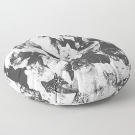 Cats Forever B&W Floor Pillow