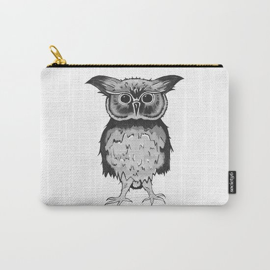 Small Owl Carry-All Pouch