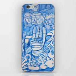 Blue window #4 iPhone Skin