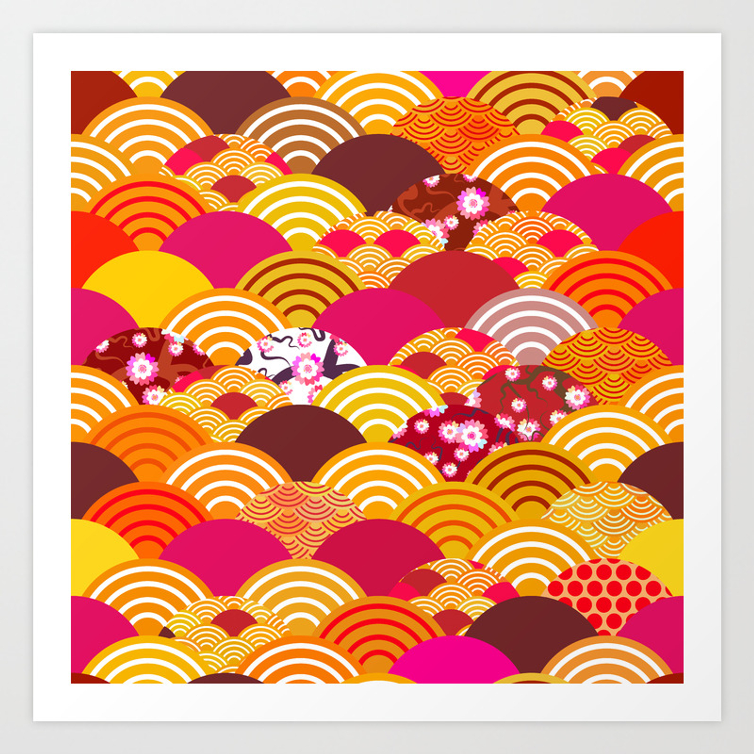 Pattern Scales Simple Nature Background With Japanese Sakura