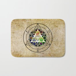 zelda triforce Bath Mat