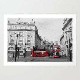 On the Buses Art Print