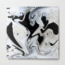 Black_paint Metal Print