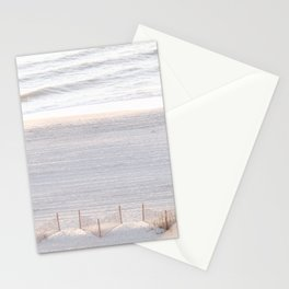 Early Morning #wallart #beach #sand #sunrise Stationery Cards