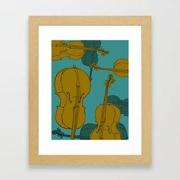 Cellos Graphic Framed Art Print