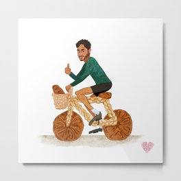 Tamal and his Bread-cycle! Metal Print