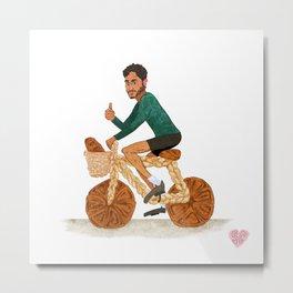 Tamal and his Bread-cycle! Metal Print