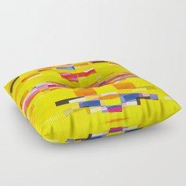 yellow pixel storm Floor Pillow