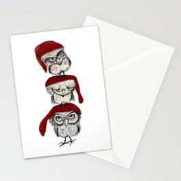 Christmas Owls Stationery Cards
