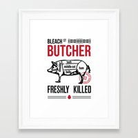 butcher billy Framed Art Prints featuring Butcher by rodehed