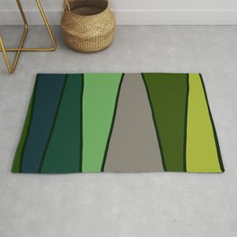 Green Abstract Pattern Turtle Rug