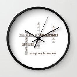 Jazz Bebop Innovator Wall Clock