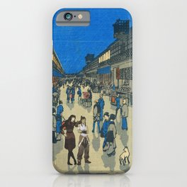 Night View of Saruwaka Town Asami and Korra iPhone Case