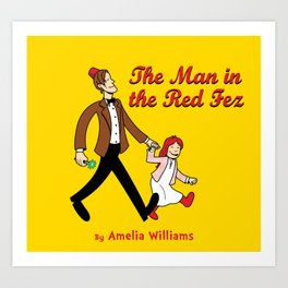The Man In The Red Fez Art Print