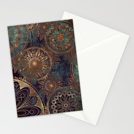 Steampunk Mandala Stationery Cards