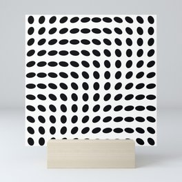 op art - dots rotate Mini Art Print
